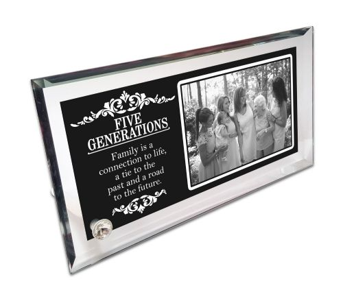Personalised Five Generations Crystal Photo Frame
